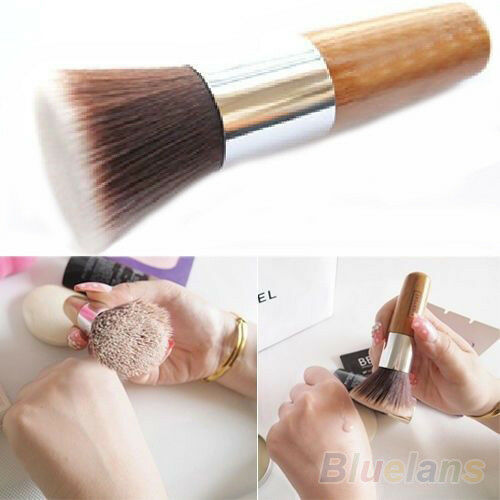 Flat Top Buffer Foundation Powder Brush Cosmetic Makeup Tool Wooden Handle BF4U