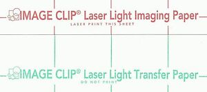 "LASER TRANSFER FOR WHITE FABRIC: ""IMAGE CLIP LIGHT"" 11""x17"" (25ct each/2 sets)"