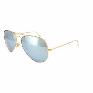 257f9f2a4 Ray-Ban Sunglasses Aviator 3025 112/W3 Gold Silver Mirror Polarized ...