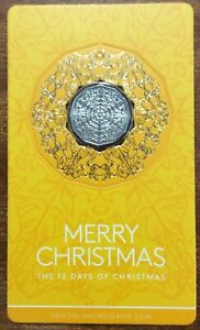 2019-RAM-50-cent-UNC-Coin-Merry-Christmas-Yellow-Card