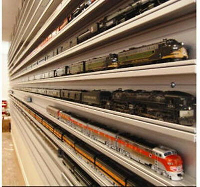 """FOR ANY HO TRAIN TRAIN DISPLAY CASE HO SCALE 16/"""" DOUBLE TRACK /""""SUMMER SCENE/"""""""
