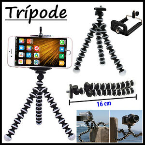 MINI-TRIPODE-FLEXIBLE-CLIP-PARA-CAMARA-MOVIL-NIKON-CANON-SPORTE-UNIVERSAL