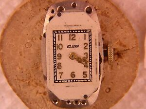 Elgin 15J 521 1937 Movement Runs strong, for parts or Restoration