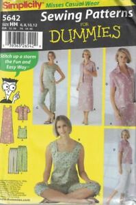 Misses-Casual-Wear-Sewing-Patterns-for-Dummies-Simplicity-5642-Sizes-6-12