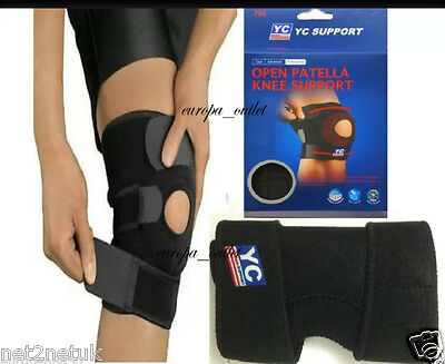 Neoprene Patella Black Elastic Knee Brace Fastener Support Pad Guard  Gym Sport