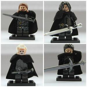 2019 Nouveau Style Game Of Thrones Jon Snow Samwell Benjen Stark Jeor Utiliser Avec Lego Mini Figures X4-afficher Le Titre D'origine Haute RéSilience