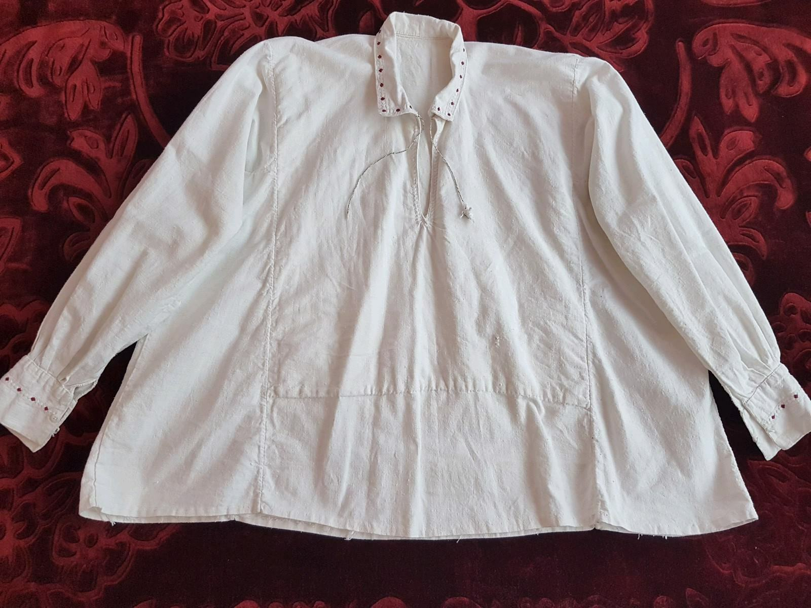 MENS Vintage hand embroiderot Romanian blouse