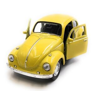 Model-Car-VW-Beetle-Convertible-Yellow-Car-1-3-4-39-Licensed
