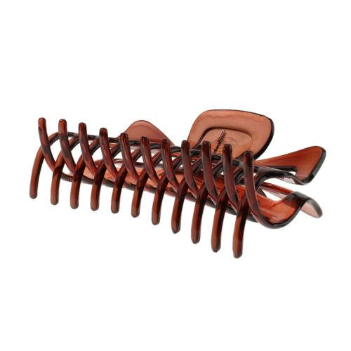 Große Haarklammer X Greiferclip Frauen Mädchen Haarzusatz Braunes Harz