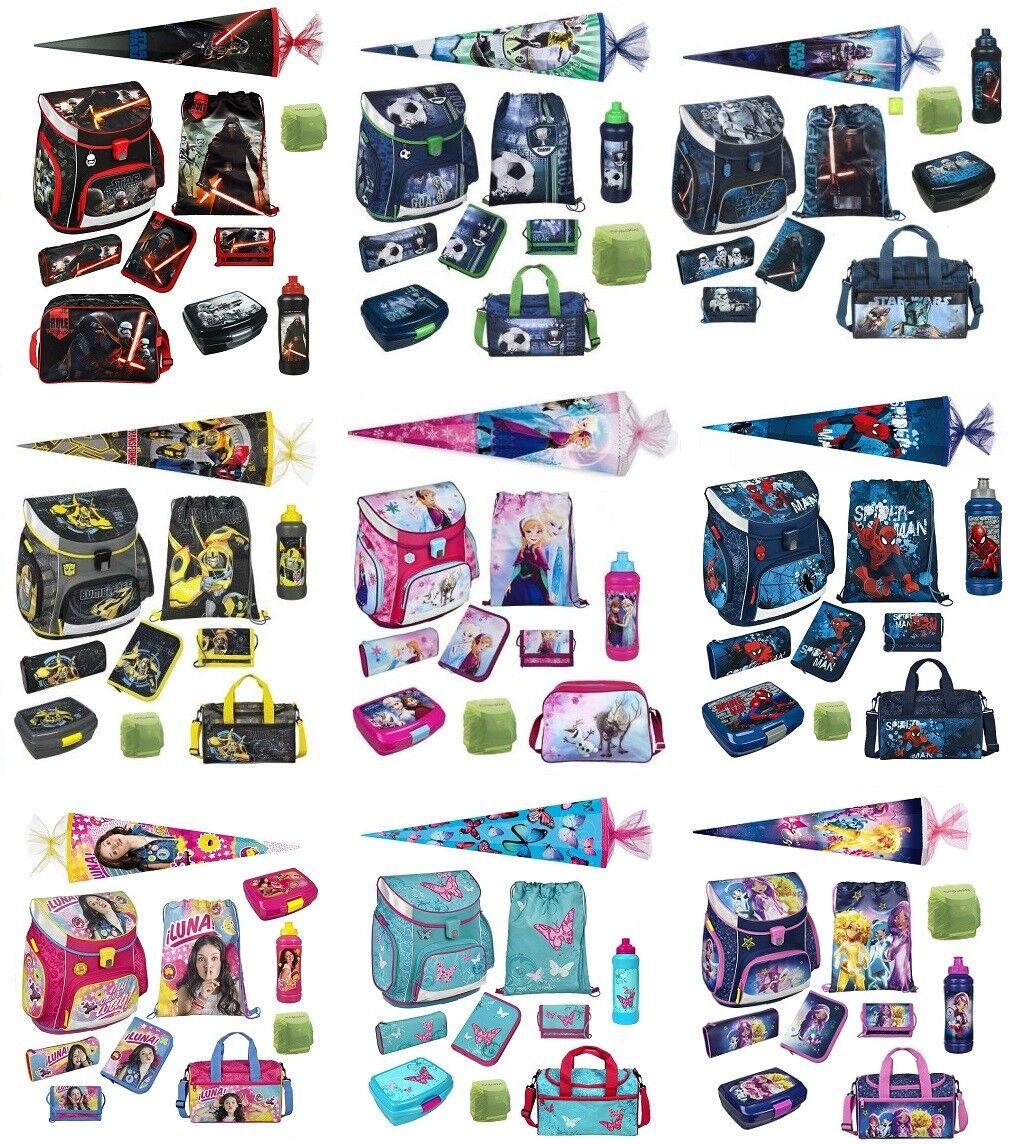 Scooli Schulranzen Set 10tlg. Schultüte 85cm Sporttasche für Mädchen und Jungen | Perfekt In Verarbeitung  | Grüne, neue Technologie  | Gemäßigten Kosten