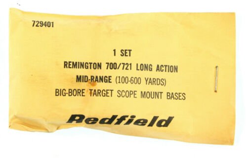 RTJP0041 Redfield 3200 Scope Mount Bases  Remington 700//721 Long Action   729401