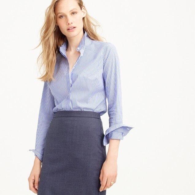 Jcrew damen Favorite shirt in stripe C9321 Größe 0