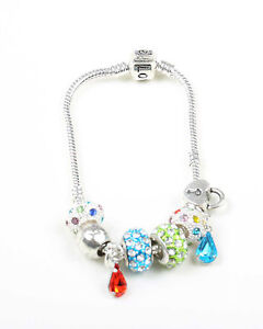 Silver-Plated-Charm-Bracelet-with-Charms