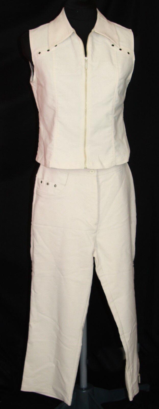 Ovidiu Cavaleru Romania pant suit M L vest cropped pants capri khaki outfit New