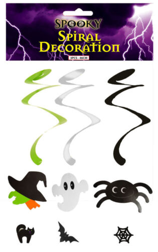 3 Strings Party Prismatic Dangler Halloween Hanging Swirl Decorations
