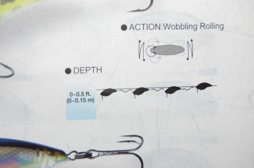 """3 lures yo zuri 3db bass wake bait 2 3//4/"""" 9//16oz r1146 assortment ghost ayu blue"""