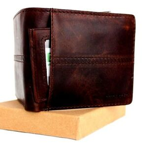 Men/'s Real Leather Wallet 7 Credit Card slots 1 id window 1 Coin Pocket Bifold s