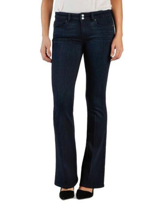 Paige HIDDEN HILLS BETTE High Rise Boot Cut Stretch Jeans  SIZE 26 Petite