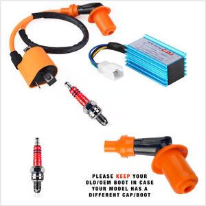 ATV Dirt Bikes Racing 5-Pins CDI+Ignition Coil+Spark Plug for 50-160cc  4-Stroke | eBayeBay