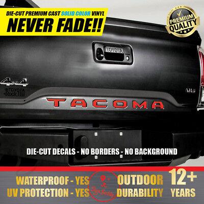 Toyota Tacoma Door Sill Decals Premium Vinyl Decals Inserts  2016-2019 Letters