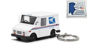 "2.5"" USPS LLV United States Postal Service Mail Diecast Truck 1:72 KEYCHAIN"