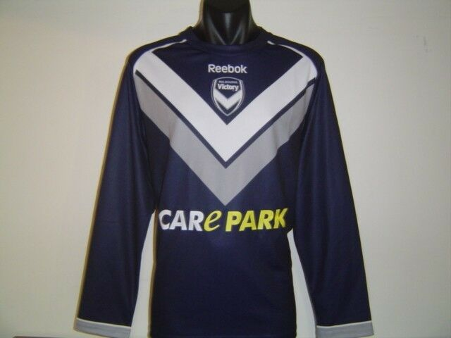 MELBOURNE VICTORY 2011 ALEAGUE AFC ACL REEBOK JERSEY SHIRT LONG SLEEVE SMALL