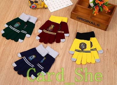 Harry Potter Ravenclaw /Gryffindor/Hufflepuff/Gloves Warm Costume Touch Glove
