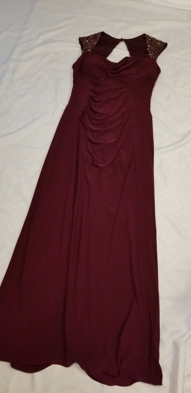 Evening Evening Evening Gown Beaded Purple Size 12 714350