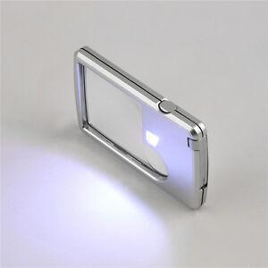 LED-Licht-Schmuck-Lupe-Lupe-Kreditkarte-geformte-Linse-Vergroesser-FCR
