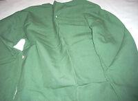 Fire Resistant Welding Safety Jacket Green Open Back Medium