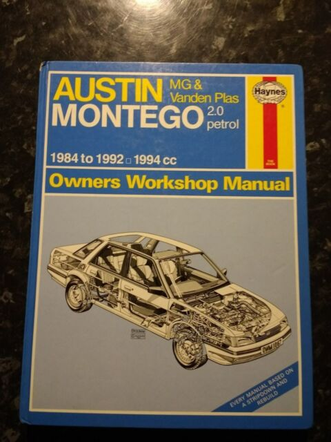 Montego MG 2.0 Petrol Haynes Manual  1984-92 Used - Good cond no oil marks 3P&P