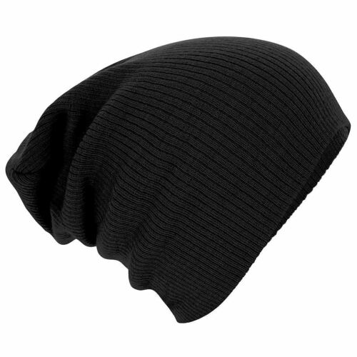 Unisex Knitted Woolly Winter Oversized Slouch Beanie Hat Cap skateboard
