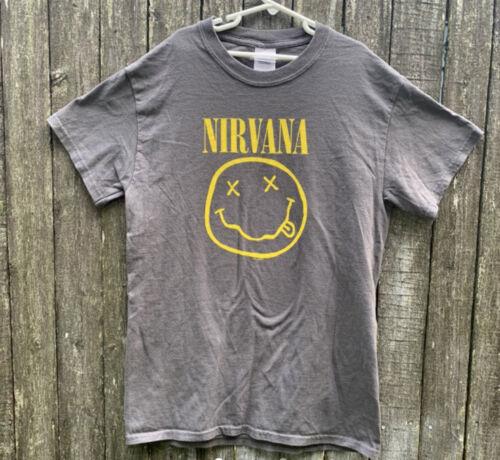 Vintage 2003 NIRVANA Smiley Face Shirt S