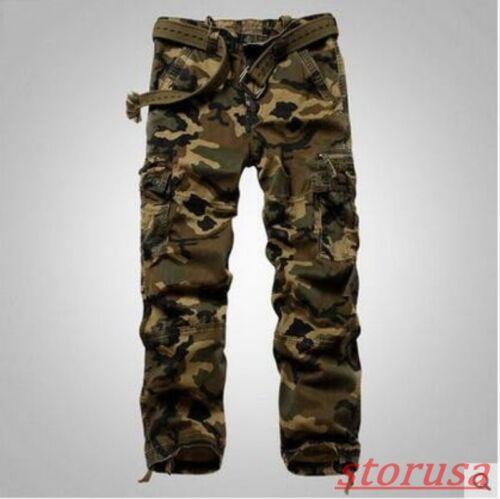 Homme Coupe Droite Camouflage Désert pantalon cargo extérieure militaire Décontracté Pantalon