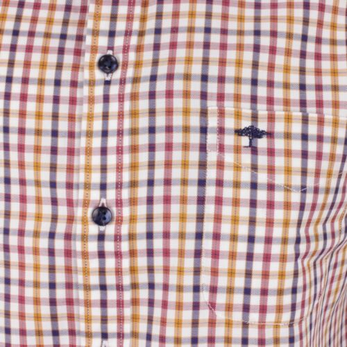 Details about  /Fynch Hatton Casual Shirt Multicoloured Checked 12205030 5033 Mustard Terracotta