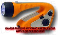 Pulling Dynamo Am/fm Radio W/ Led Flashlight Fe-tc04 on sale