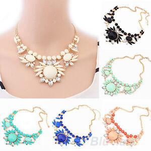 Womens-Fashion-Crystal-Irregular-Short-Necklace-Mixed-Bubble-Bib-Pendant-B52U