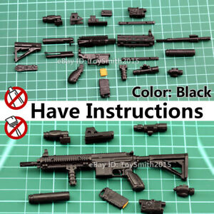 1//6 1:6 Scale 12 Action Figure Gun Model Asault Rifle HK416 MP5 Seal BBI DID