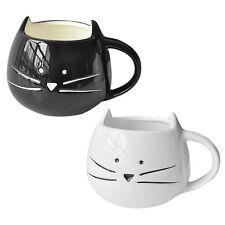 Coffee Cup White Cat Animal Milk Cup Ceramic Lovers Mug Cute Birthday Gift CR