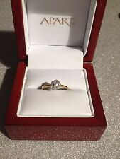diamond ring gold Apart 14K 0,13ct