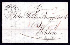 Zurich-1840-cover-and-letter-to-Wohlen-Switzerland-WS11325