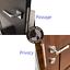 AGB Mediana Polaris Interior Door Silent Magnetic Privacy Lock Polished Nickel