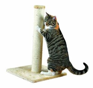 HERITAGE-CAT-KITTEN-BEIGE-SCRATCHING-POLE-POST-SCRATCHER-SCRATCH-SISAL-60185a