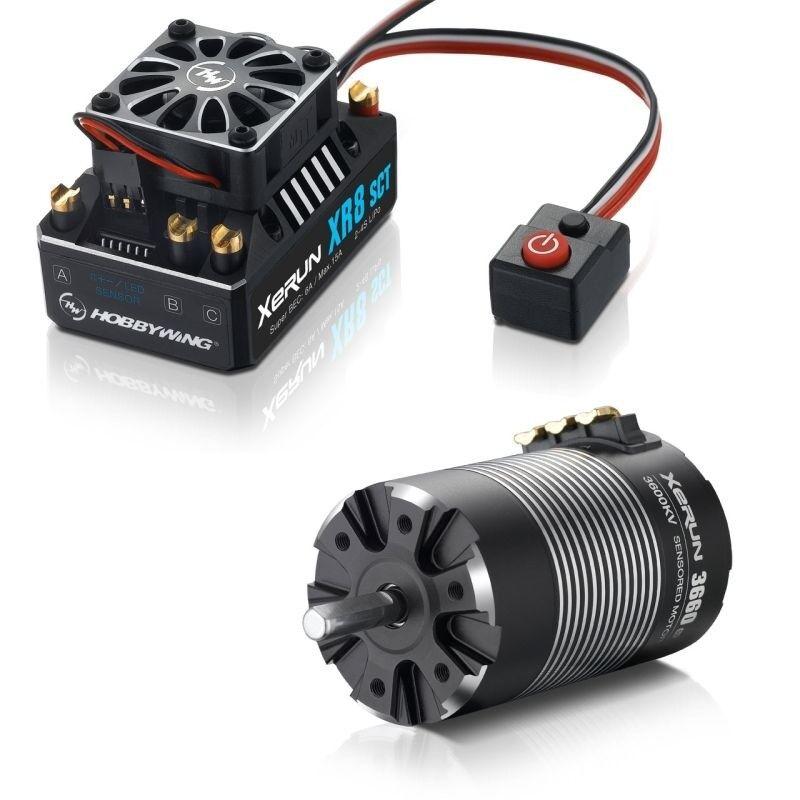 Hobbywing XERUN xr8 SCT combo con 3660-3600kv (onda 5mm) 1 10 4wd-hw38020412