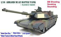 Heng Long Abrams M1a2 Radio Remote Control Rc Tank 1/16 Camouflage -- Platinum