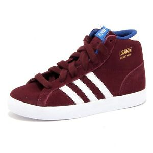 the latest d87e1 fb3bb Image is loading 5169U-sneaker-bimbo-ADIDAS-scarpa-BASKET-PROFI-bordeaux-