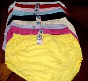 NWT-Women-039-s-Cotton-Briefs-Panties-Size-2x-3x-and-4-x-Cotton-Spandex-435
