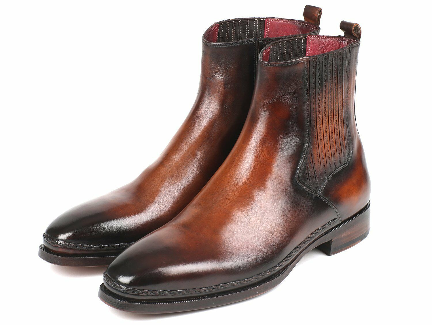 Stiefel Paul Parkman Chelsea braun Burnished Leather Hand Made Made Made Stiefel ee9257