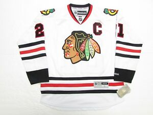"STAN MIKITA CHICAGO BLACKHAWKS AWAY REEBOK PREMIER 7185 HOCKEY JERSEY WITH ""C"""