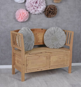 sitztruhe truhenbank sitzbank holz bank mit klappdeckel truhe gartenbank antik ebay. Black Bedroom Furniture Sets. Home Design Ideas